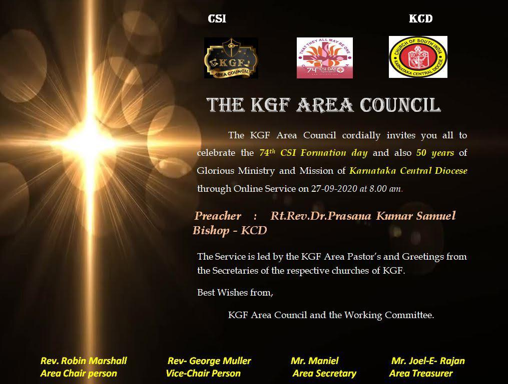 KGF Area Council - CSI Formation Day